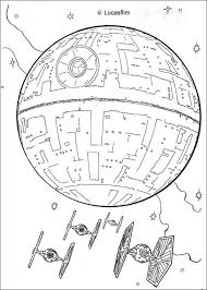 Small Picture Death star and the fighters coloring pages Hellokidscom