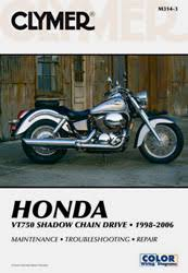 honda motorcycle manuals diy repair manuals clymer honda vt750 shadow chain drive motorcycle 1998 2006 service repair manual