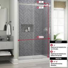 x 76 in sliding frameless shower door