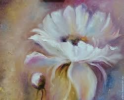 flower paintings handmade livemaster handmade white flower oil painting
