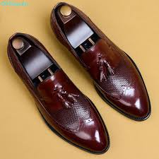 <b>QYFCIOUFU</b> Fashion <b>Tassel</b> Brogue Formal Shoes Men Pointed ...
