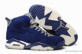 jordan shoes retro 6. ae342346 blue-grey-white jordan retro 6 fur shoes for mens