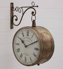 antique brass victoria station double side wall clock in india at cooliyo coolest s in india hand picked for you
