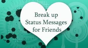 por messages breakup status friendship