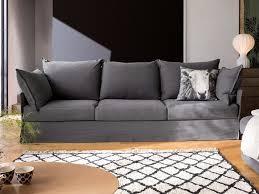 dall agnese every 3 seater fabric sofa