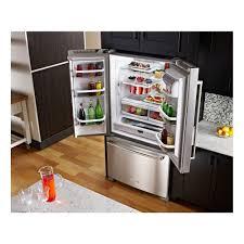 kitchenaid 36 25 cu ft french door refrigerator with interior water dispenser