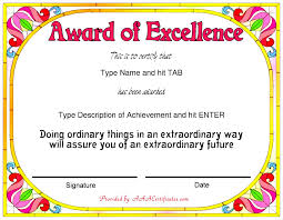 Award Of Excellence Certificate Template 100 Stunning Certificate And Award Template Word Examples Thogati 80