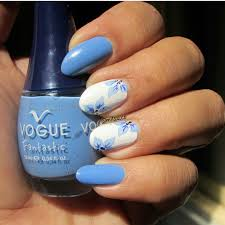 Uñas nail art uñas decoradas uñas 2017 azul nail blue flowers ...