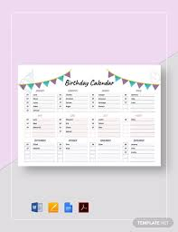 Bring your ideas to life with more customizable templates and new creative options when you subscribe to. Free Birthday Calendar Template In Apple Mac Pages Template Net