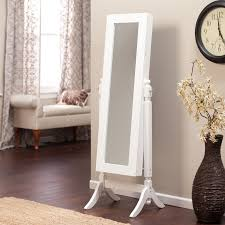 Mirrored Cabinets Living Room Furniture Wall Clock Design Ideas With White Wooden Mirror