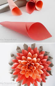 Paper Flower Origami Paper Dahlia Wreath Crafts Tips And Diy Pinterest Dahlia