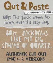 collage fonts free not free qut paste paper collage cutout typeface decorative fonts