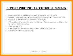 9 10 Samples Of Executive Summary Report Lasweetvida Com