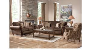 brown leather living room furniture. Ansel Park Brown 8 Pc Living Room Leather Furniture