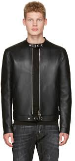 Dsquared Size Chart Dsquared2 Black Bonded Leather Biker