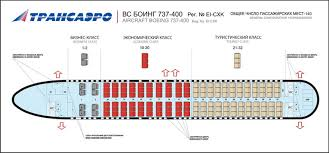 Boeing 737 200 Seating Chart Transaero Russian Airlines Aircraft Seatmaps Airline