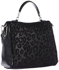 Amazon.com  Coach Madison Leather Small Sadie Flap Satchel Black Chenille  Ocelot Handbag  Shoes