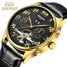 futuristic mens watches promotion shop for promotional futuristic classic mens auto date automatic mechanical watch men black skeleton genuine leather golden stainless steel self wind wristwatch