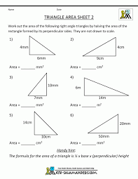 Math Worksheets Area Of Triangle 7th Grade Sheet Fun Printable ...