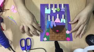Cách làm đồ chơi học tập cho trẻ mầm non - Bé tập phơi đồ - YouTube