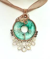 aqua eye pendant by handmade glass pendants hand blown uk