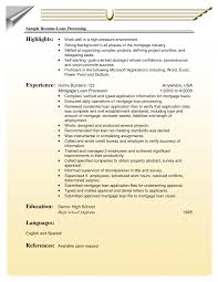 Loan Officer Resume Templates Summary Template Consultant Mortgage