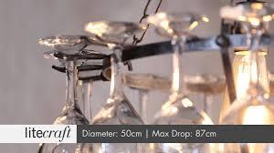 chandelier light wine glass light tier wine glass chandelier with glasses black model 14