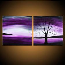 landscape paintings on canvas lovely twilight dreaming custom painting purple tree landscape on two