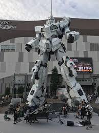 life size unicorns life size gundam unicorn statue unveiled in japan watchmojo blog