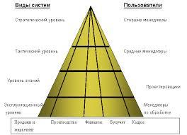 Экономические информационные системы принципы построения и  В организации выделяют следующие уровни