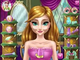 disney frozen anna s make up dress and cosmetics game