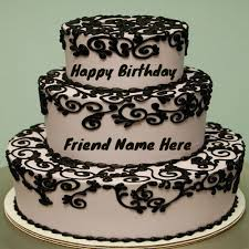 Write Your Name On Nice Chocolates Cake For Friends