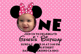 stunning invitation minnie mouse 1st birthday 55 for your card design ideas with invitation minnie mouse 1st birthday