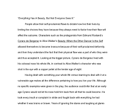 cyrano de bergerac essay international baccalaureate world  document image preview