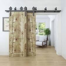 bypass barn door hardware. Rolling Sliding Spoke Wheel Bypass Barn Door Hardware Kit Room Pantry Closet B