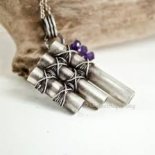 custom pan pipe necklace in sterling silver and amethyst by gossamerscapes custommade com