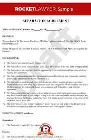 Divorce Notice Format Unique Free Separation Agreement Template Online