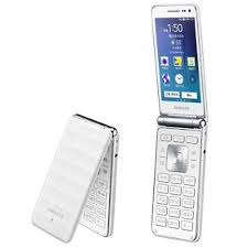 white samsung galaxy phones. picture of samsung galaxy folder sm-g150 8gb flip smartphone (white) white phones