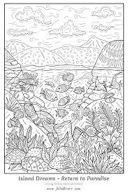 Dolphin Dream Designs Coloring Book Island Dreams Return To Paradise Water Worlds Adult