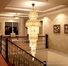k9 gold crystal chandelier re stair chandelier modern led chandeliers lighting fixtures hotel villa lobby aisle engineering llfa foyer chandelier french