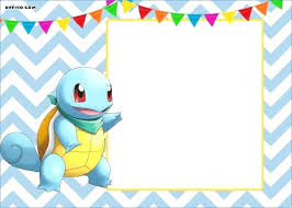Free Printable Pokemon Birthday Party Invitations Cards Getpicksco