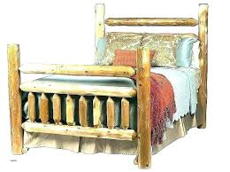 Pine Log Queen Bed Frame Size For Sale Aspen Home Improvement ...