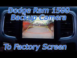dodge ram 1500 backup camera through factory screen aftermarket dodge ram 1500 backup camera through factory screen aftermarket