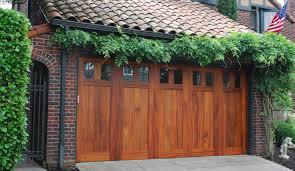 custom wood doors garage doors