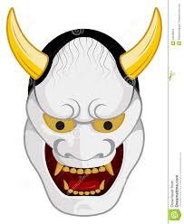 japanese for mask japanese mask noh stock vector illustration of sharp 23248654