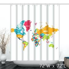 map shower curtain colorful political the world map bathroom shower curtain world map shower curtain target