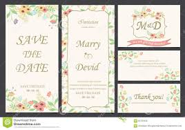 Invitation Card Sample Wedding Invitation Card Template Stock Vector Illustration Of
