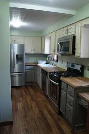 grey kitchen cabinets with dark wood floors resnoozecom