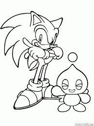 Small Picture Coloring page Sonic X and Cheese the Chao