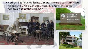 「1865 Robert E. Lee surrenders」の画像検索結果
